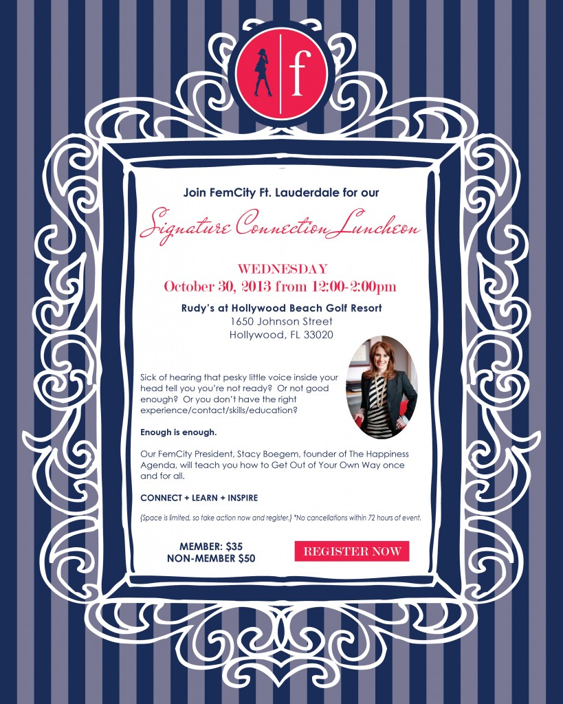 Invitation to Femfessionals Ft. Lauderdale Signature Connection Luncheon, October 2013