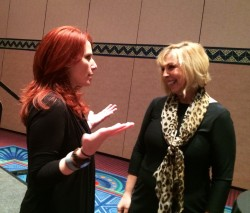 I had a chance to tell Kim what an inspiration she is - she was so gracious.