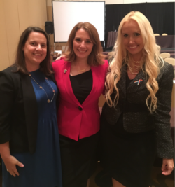 Stacy with Co-Chairs of the Commission on Women, Jacqueline Simms-Petredis and Valerie Barnhart.