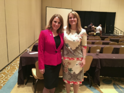 Stacy Boegem and Dean Laura Rosenberry